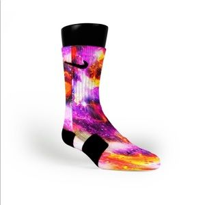 NIKE SOCKS PLANET RAYGUN GALAXIES Custom